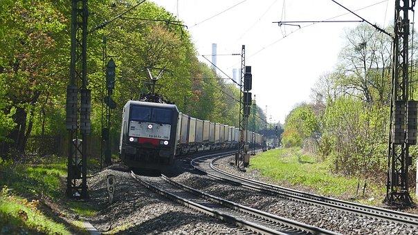 Railway Line, Train, Transport System, Railway, Travel