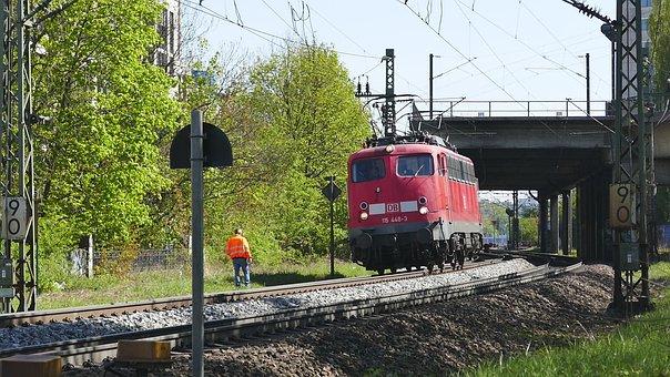 Transport System, Train, Road, Railway, Railway Line
