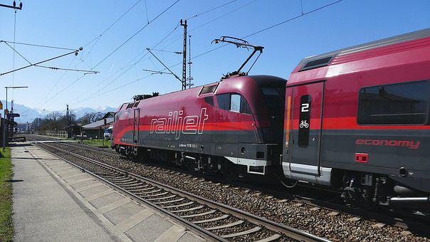Train, Transport System, Railway, Motor, Railway Line