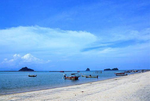 Waters, Sea, Beach, Coast, Sand, Travel, Sky, Ocean