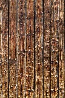 Wood, Boards, Branches, Wooden Door, Scratches