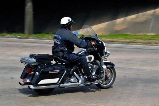 Police Officer, Motorcycle, Patrol, Bike, Drive, Race