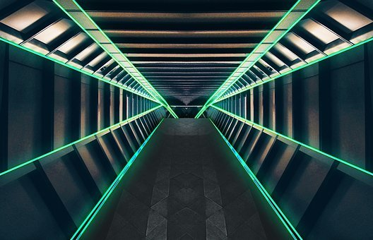 Tunnel, Corridor, Space, Outer Space, Science Fiction