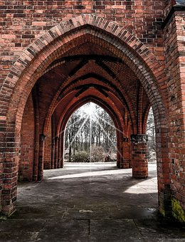 Architecture, Arch, Old, Gothic, Wall, Brick