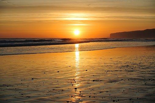 Sunset, Water, Dawn, Dusk, Sun, Sea, Cliffs