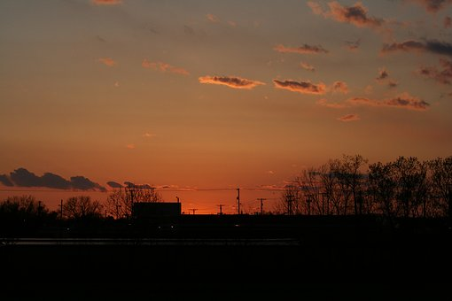 Sunset, Dawn, Evening, Dusk, Sky, Outdoors, Sun