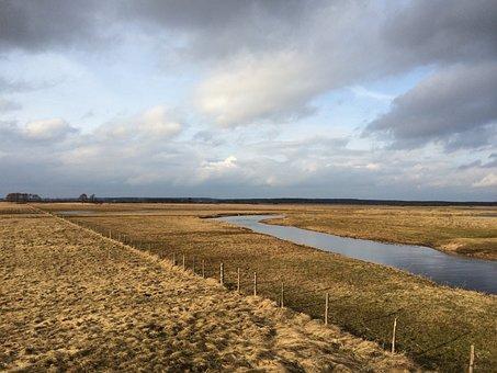 Landscape, Nature, Sky, Field, The Horizon, Meadow