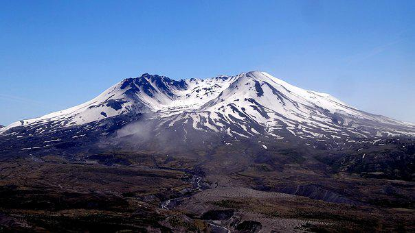 Mountain, Volcano, Snow, Panoramic