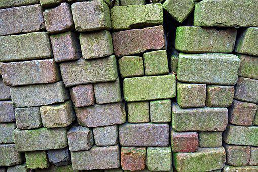 Brick, Stack, Stacked Bricks, Stone, Material