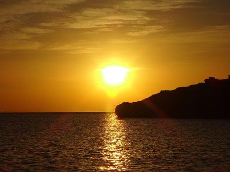 Sunset, Dawn, Sun, Dusk, Water, Sea, Evening, Beach