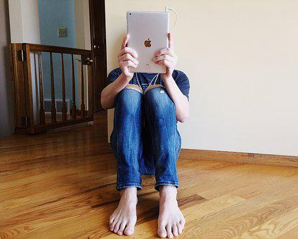 Person, Young, Reading, Ipad, Tablet, Home
