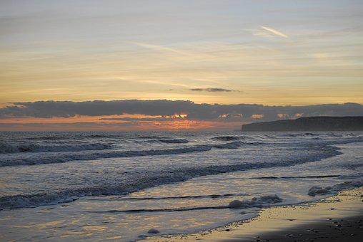 Water, Sunset, Nature, Sea, Beach