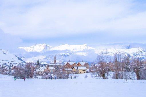 Village, Ancelle, Hautes Alpes, Champsaur, Snow, Winter