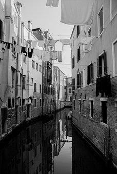 Urban Road, Architecture, Channel, Venice, Water