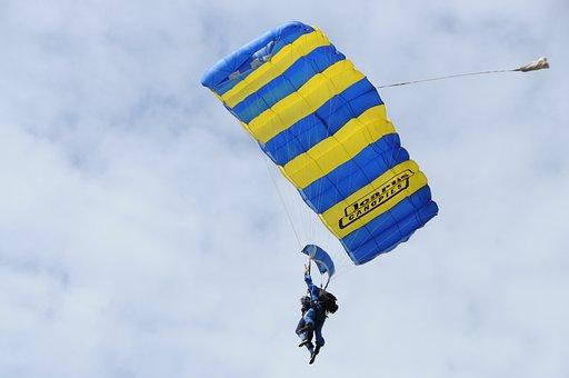 Air, Parachute, Fly, Freedom, Sky