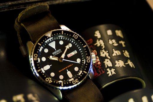 Hour S, Watch, Antique, Japan, Kanji, Sake, Seiko, Time