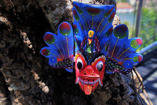 The Style Of The Country, Sri Lanka, Mask, Blue