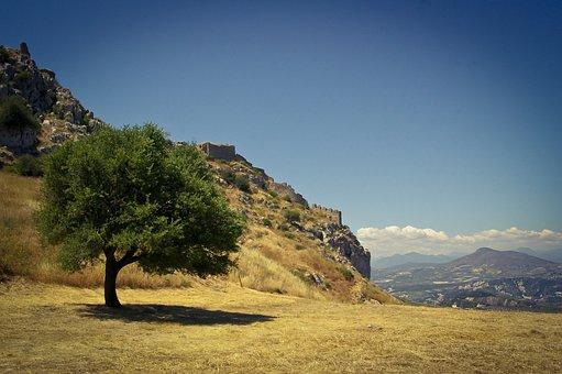 Nature, Panoramic, Sky, Mountain, Landscape, Greece