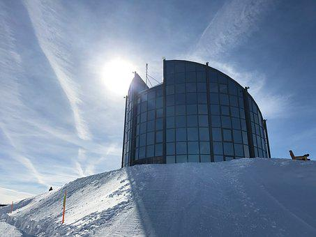 Mountain, Restaurant, Snow, Sky, Winter