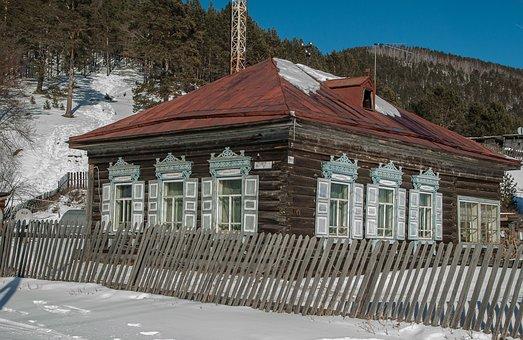 Siberia, Lake Baikal, Wooden House, Closing