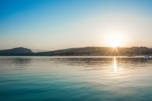 Waters, Sunset, Nature, Sun, Sea, Dawn, Sky, Beach