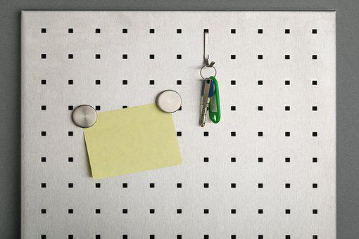 Postit, Sticky Note, Yellow, Key, Reminder, Memory