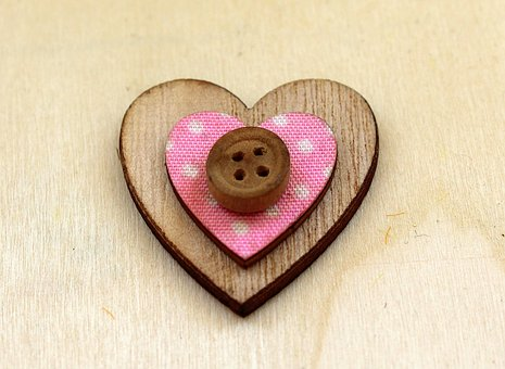 Heart, Wooden, Handcrafted, Crafts, Model