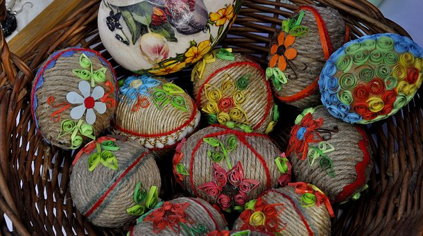 Eating, Traditional, Model, Handcrafted, Eggs, Easter