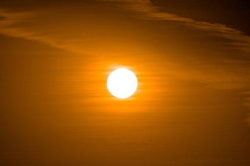 Sun, Sunset, Sky, Evening, Dusk, Clouds, Nature