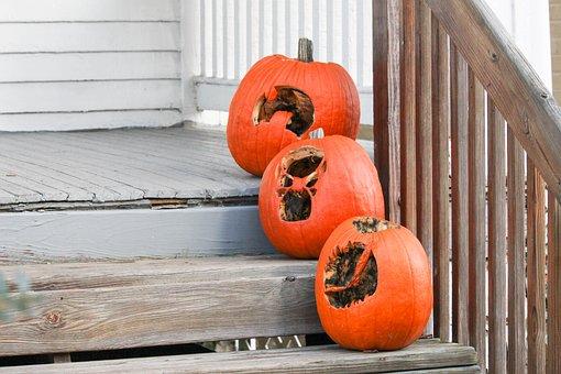 Wooden, Wood, Pumpkin, Halloween