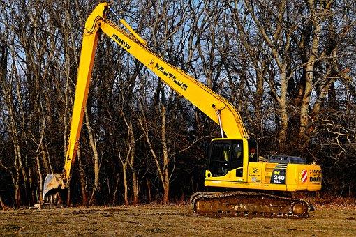 Excavator, Machine, Yellow, Technique