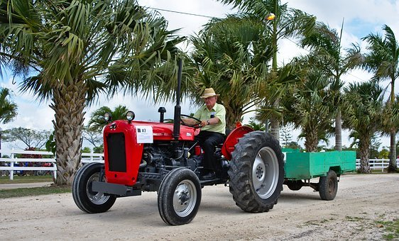 Tractor, Old, Antique, Vehicle, Car