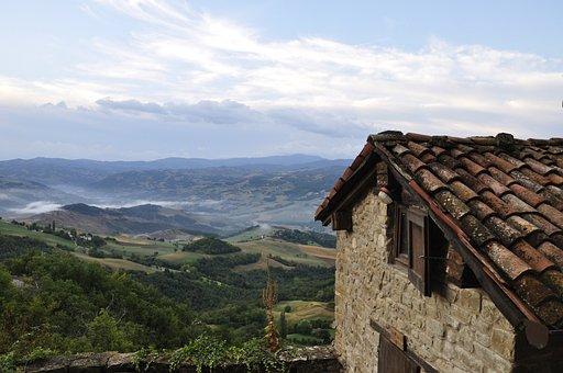 Hill, Nature, Sky, Travel, Landscape, Emilia