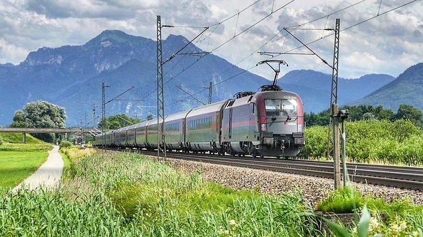 Travel, Transport System, Nature, Railway