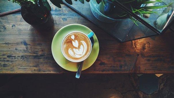 Wood, Food, Table, Wooden, Drink, Cup, Coffee, Vintage