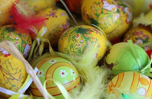 Eggs, Easter Eggs, Decoration, Easter, Color, Season
