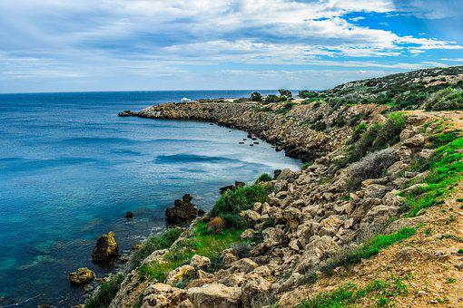 Cyprus, Cavo Greko, Landscape, Sea, Seashore, Coast