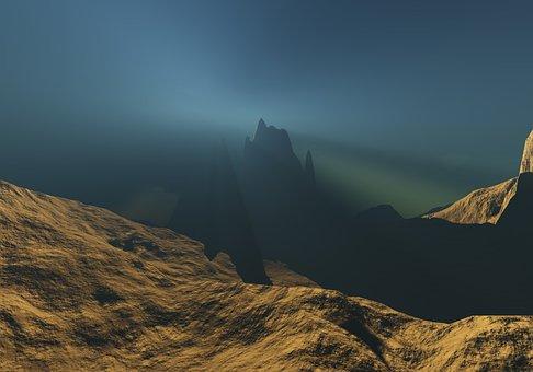Mountain, Landscape, Nature, Sky, Dawn