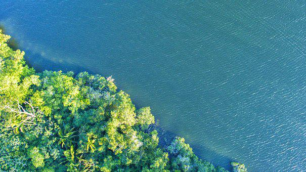 Water, Nature, Summer, Sea, Landscape, Drone, Dji