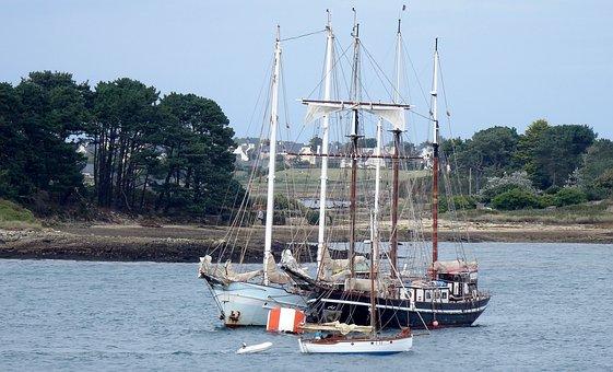 Body Of Water, Sea, Boat, Refuge, Ship, Side, Pier