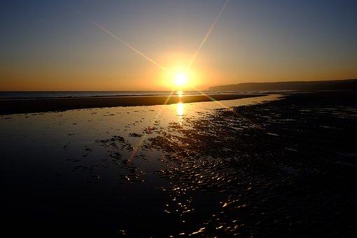 Sunset, Dawn, Dusk, Sun, Water, Morning, Star, Sea