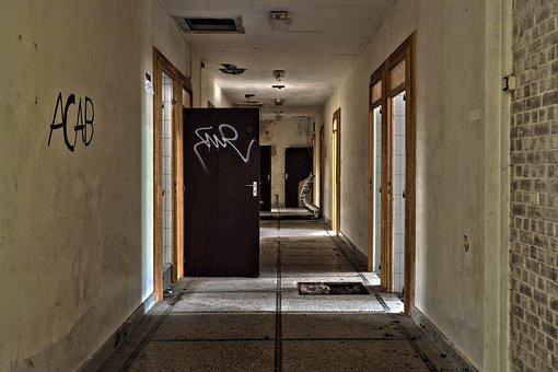 Door, Within, Architecture, Home, Floor, Empty, Leave