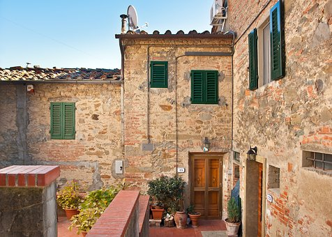 Toscana, Old, House, Town, Building