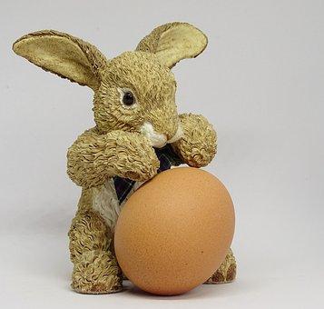 Hare, Egg, Easter Decoration