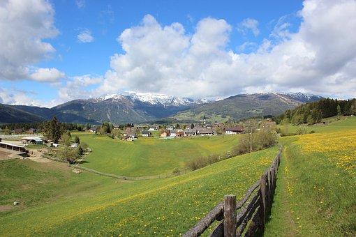 Landscape, Nature, Panorama, Sky, Grass