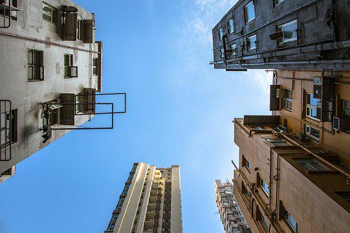 Architecture, At The Court Of, Hong Kong, City, Sky