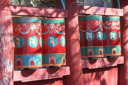 Decoration, Chinese, Garden, Country, Chinese Art, Red