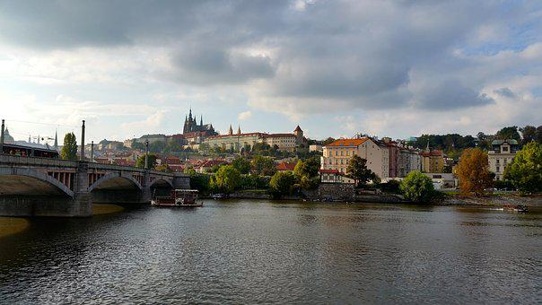 River, Water, Panoramic, City, Architecture, Prague
