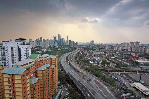 Kuala Lumpur, Berembang Flat, After Rain, Dramatic Sky