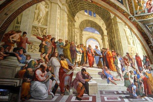 Fresco, Vatican, Vatican Museums, Philosophers